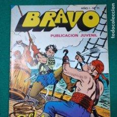 Tebeos: BRAVO Nº 71. AÑO I. EL CACHORRO, Nº 36: LOS BUITRES DEL CARIBE. BRUGUERA, DICIEMBRE 1976. Lote 290443823