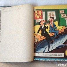Tebeos: TOMO ENCUADERNADO COMIC TEBEO DDT AÑO 1956/57 DEL Nº 293 AL 328 MAS EXTRA VERANO TOTAL 37 NUMEROS. Lote 290943703