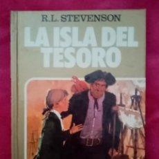 Tebeos: 1984 LIBRO LA ISLA DEL TESORO. R. L. STEVENSON. ED BRUGUERA. COMIC. ILUSTRACIONES MANUEL CUYÁS 176 P. Lote 291046273