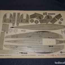 Tebeos: (M0) PULGARCITO - CONSTRUCCIONES PULGARCITO - RECORTABLE GRAN AVION DE BOMBARDEO N.6 SERIE PLATA. Lote 291188863