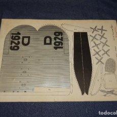 Tebeos: (M0) PULGARCITO - CONSTRUCCIONES PULGARCITO - RECORTABLE AVION DORNIER 1929 N.10 SERIE PLAYA. Lote 291189658