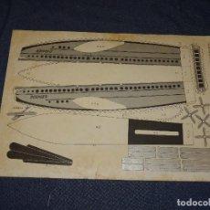Tebeos: (M0) PULGARCITO - CONSTRUCCIONES PULGARCITO - RECORTABLE AVION DORNIER 1929 N.13 SERIE PLATA. Lote 291190323
