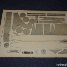 Tebeos: (M0) PULGARCITO - CONSTRUCCIONES PULGARCITO - RECORTABLE COCHE EL BOLIDO PLATA N.15 SERIE PLATA. Lote 291190838