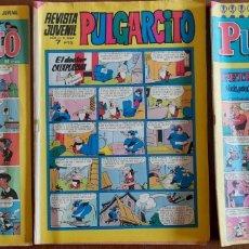 Tebeos: PULGARCITO- 3 EJEMPLARES REVISTA JUVENIL- 1972-73 Y 1974 LA REVISTA ORIGINAL GRAPADA. Lote 292378378
