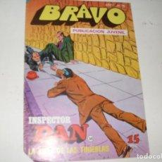 Tebeos: INSPECTOR DAN(BRAVO) NUMERO 38(DE 41).EDITORIAL BRUGUERA,AÑO 1976.. Lote 292382103