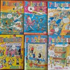 Tebeos: PULGARCITO ,LOTE 6 EJEMPLARES, EXTRAS Y ALMANAQUES 1973-75-76-77. Lote 292385388