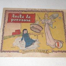 Tebeos: ANTIGUO COMIC COLECCION ROSITA Nº 43 - ANITA LA PEREZOSA - EDITORIAL BRUGUERA - AÑO 1953. Lote 292598718