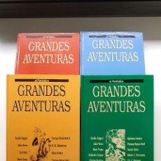 Tebeos: GRANDES AVENTURAS - 4 TOMOS - EL PERIODICO - JOYAS LITERARIAS BRUGUERA. Lote 293651938