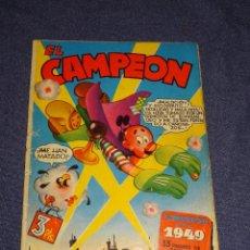 Tebeos: (M1) EL CAMPEON ALMANAQUE PARA 1949, EDT BRUGUERA, LOMO CON ROTURITAS, PÁGINA CENTRAL SUELTA. Lote 294383718