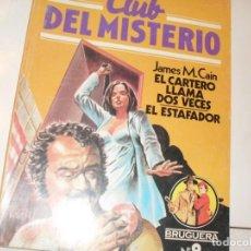 Tebeos: CLUB DEL MISTERIO 9 EL CARTERO LLAMA DOS VECES/EL ESTAFADOR.EDITORIAL BRUGUERA,AÑO 1981.. Lote 294449743