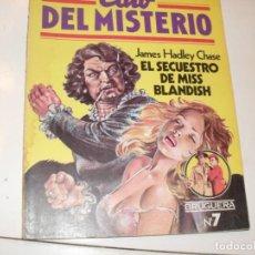 Tebeos: CLUB DEL MISTERIO 7 EL SECUESTRO DE MISS BLANDISH.EDITORIAL BRUGUERA,AÑO 1981.. Lote 294450343