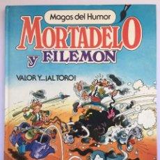 Tebeos: MORTADELO Y FILEMON - VALOR Y...¡AL TORO! - 2ª EDICIÓN 1986. Lote 295277813