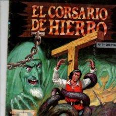Tebeos: EL CORSARIO DE HIERRO Nº 9. EL PRISIONERO DE ARGEL. EDICION HISTORICA. EDICIONES B, 1988. Lote 295483073