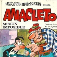 Tebeos: ALEGRES HISTORIETAS 13, ANACLETO: MISIÓN IMPOSIBLE1971, BRUGUERA, MUY BUEN ESTADO. Lote 295519563