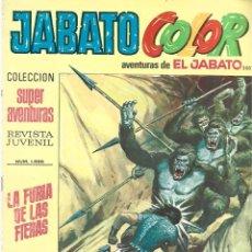 Tebeos: JABATO COLOR 203: LA FURIA DE LAS FIERAS, 1973, BRUGUERA, BUEN ESTADO. Lote 295522228