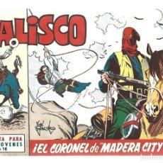 Tebeos: JALISCO 18: EL CORONEL DE MADERA CITY, 1964, BRUGUERA, MUY BUEN ESTADO. Lote 295524753