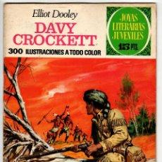 Tebeos: JOYAS LITERARIAS Nº 41 (BRUGUERA 1ª EDICION 1972) DAVID CROCKETT.. Lote 295525258