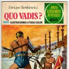 Tebeos: JOYAS LITERARIAS Nº 14 (BRUGUERA 1972) QUO VADIS?. Lote 295525788