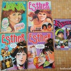 Tebeos: LOTE REVISTAS ESTHER Y JANA AÑOS 80 - LAS DE LA FOTO - EN BUEN ESTADO. Lote 295733323