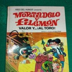 Tebeos: ASES DEL HUMOR Nº 4. MORTADELO Y FILEMON. VALOR Y AL TORO. BRUGUERA 1ª EDICION 1970.. Lote 296957943