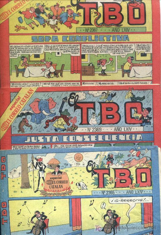 TRES T.B.O. N. 2365 - 2367 - 2369 AÑO LXIV (Tebeos y Comics - Buigas - TBO)