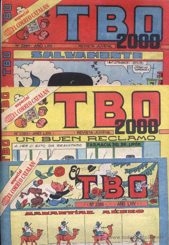 3 T. B.O. N. 2362 - 2364 - 2368 LXIV (Tebeos y Comics - Buigas - TBO)