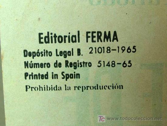 Tebeos: MUY RARO, COMIC O TBO, EDITORIAL FERMA, Nº 1, EL SANTO, SIMON TEMPLAR, 1966 - Foto 3 - 194663970