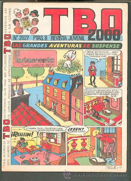 TBO 2000 Nº 2027,EDITORIAL BUIGA (Tebeos y Comics - Buigas - TBO)