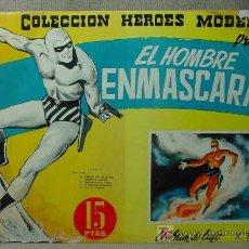 Tebeos: TBO, COMIC, EL HOMBRE ENMASCARADO, (FANTASMA), Nº 10, HEROES MODERNOS, 5 HISTORIAS. Lote 19536594