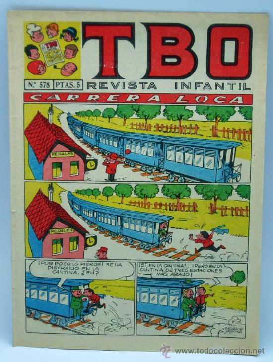 TBO REVISTA Nº 578 ED BUIGAS 1968 CARRERA LOCA (Tebeos y Comics - Buigas - TBO)