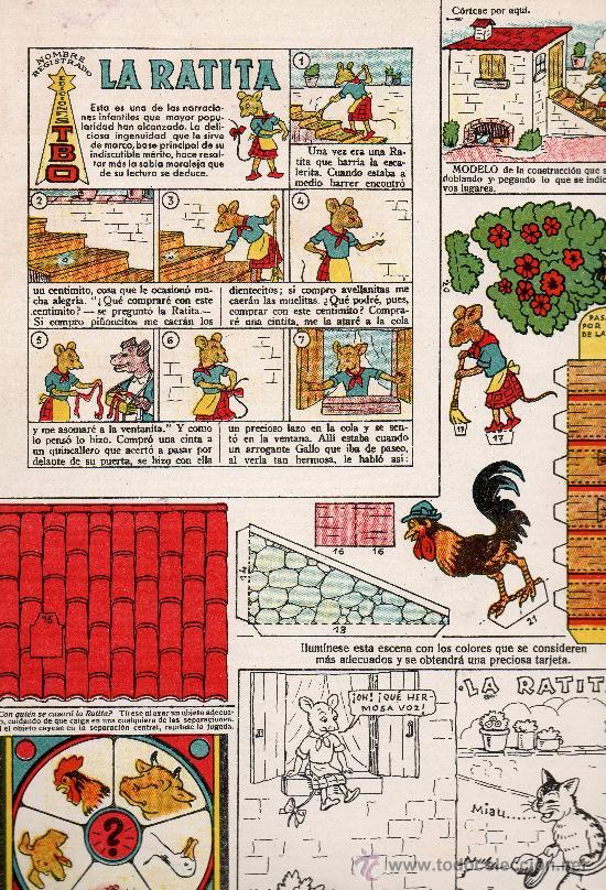 RECORTABLES COLECCION MAGISTER LA RATITA EDITA BUIGAS (Tebeos y Comics - Buigas - Otros)