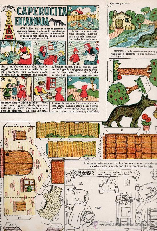 RECORTABLES COLECCION MAGISTER CAPERUCITA ENCARNADA EDITA BUIGAS (Tebeos y Comics - Buigas - Otros)