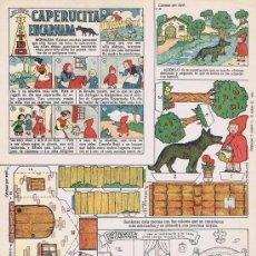 Tebeos - CAPERUCITA ENCARNADA (Cuento Recortable de la revista TBO). Barcelona: TBO, 21x31. Díptico. Libro. N - 30113097