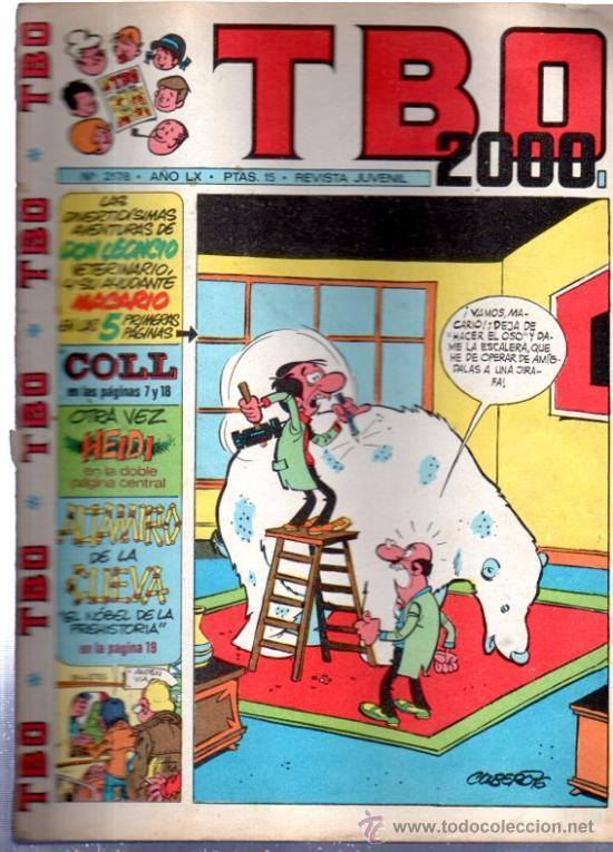 TBO 2000, Nº 2178, AÑO LX, EVISTA JUVENIL (Tebeos y Comics - Buigas - TBO)