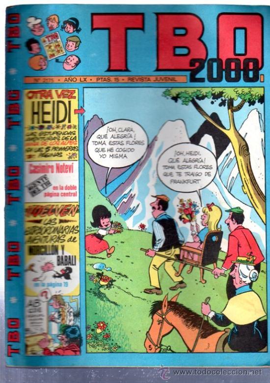 TBO 2000, EXTRA DE DISFRACES, Nº 2175, AÑO LX, REVISTA JUVENIL (Tebeos y Comics - Buigas - TBO)