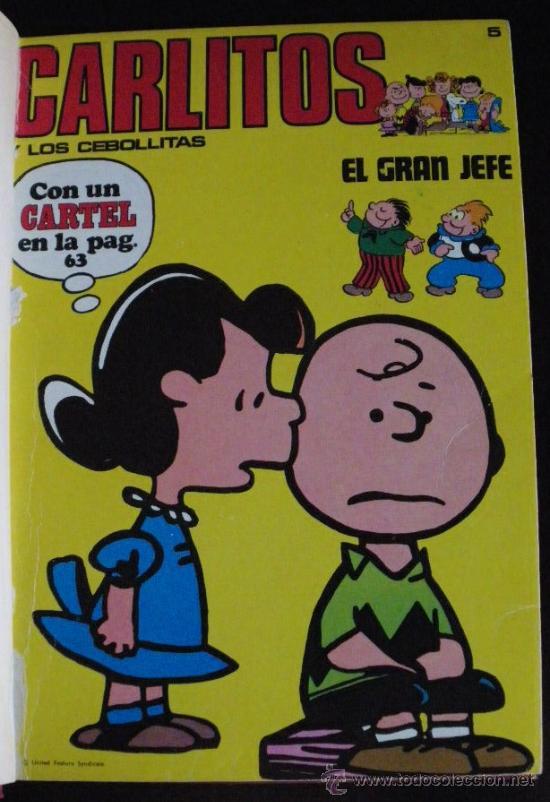 4 NUMEROS ENCUADERNADOS DE CARLITOS Y LOS CEBOLLITAS POR CHARLES SCHULZ Y RUDOLPH DIRKS. NUMEROS 5, (Tebeos y Comics - Buigas - Otros)