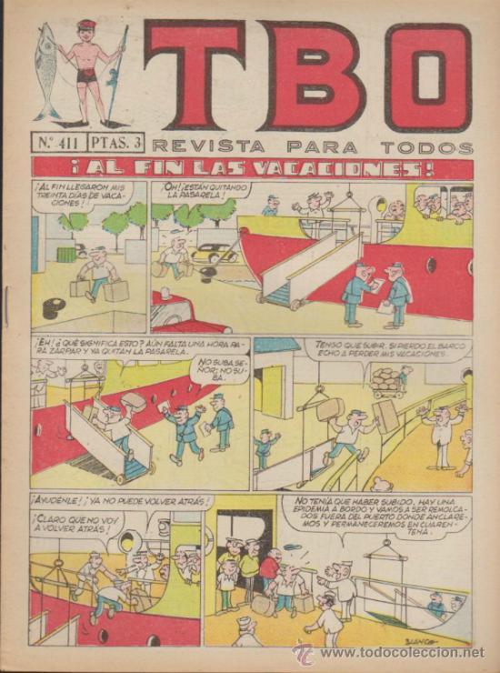 TBO LOTE DE 6 EJEMPLARES: 411,431,459,483,490 Y 498. (Tebeos y Comics - Buigas - Otros)
