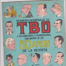 Tebeos: NUMERO HOMENAJE DE TBO A SUS DIBUJANTES CON MOTIVO DE LOS 50 AÑOS DE LA REVISTA. Lote 36717484