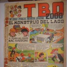 Tebeos: REVISTA JUVENIL TBO 2000 Nº 2002 8 PTAS 1972 BUIGAS CON VALES OBSEQUIO PARQUES ATRACCIONES. Lote 38632767