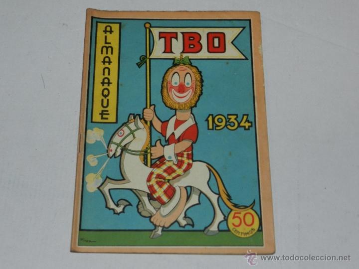 (M-1) ALMANAQUE TBO 1934 , PORTADA DE OPISSO, COMPLETO !!! TOTALMENTE ORIGINAL (Tebeos y Comics - Buigas - TBO)