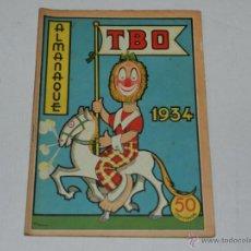 Tebeos: (M-1) ALMANAQUE TBO 1934 , PORTADA DE OPISSO, COMPLETO !!! TOTALMENTE ORIGINAL. Lote 40203049