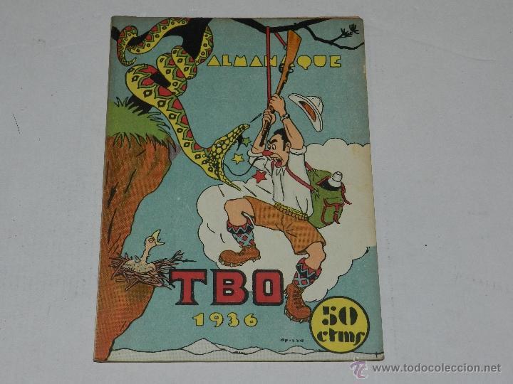 (M-1) ALMANAQUE TBO 1936 , PORTADA DE OPISSO, COMPLETO !!! TOTALMENTE ORIGINAL (Tebeos y Comics - Buigas - TBO)