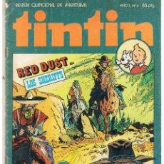 Tebeos: TINTIN. REVISTA QUINCENAL DE AVENTURAS. Nº 4. BRUGUERA 1981(ST/). Lote 45072714