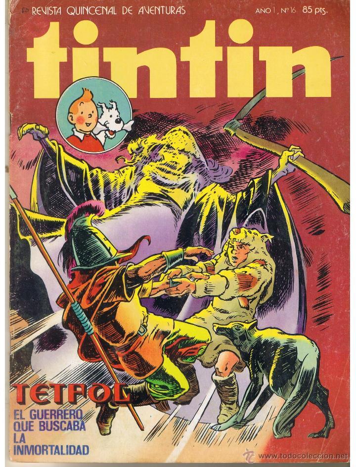 TINTIN. REVISTA QUINCENAL DE AVENTURAS. Nº 16. BRUGUERA 1981(ST/) (Tebeos y Comics - Buigas - Otros)