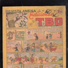 Tebeos: REVISTA AMENA DE EDICIONES TBO. SE TRATA DE CAPTURAR A UN TERRIBLE BANDIDO. BARCELONA. 1.20 PESETAS. Lote 47530769