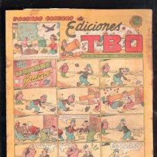 Tebeos: PAGINAS COMICAS DE EDICIONES TBO. UN HOMBRE BUENO. BARCELONA. 1.20 PESETAS. Lote 47530853