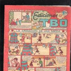 Tebeos: CUADERNO DIVERTIDO DE EDICIONES TBO. LA CREACION DE UNA MODA. BARCELONA. 1.20 PESETAS.. Lote 47531925