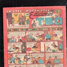 Tebeos: CHISTES E HISTORIETAS DE EDICIONES TBO. EL TREN DE VILLACONEJOS. BARCELONA. 1.20 PESETAS.. Lote 47532335