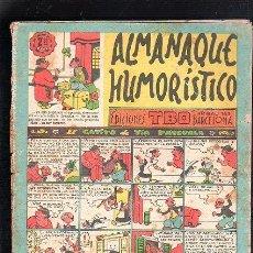 Tebeos: ALMANAQUE HUMORISTICO. EDICIONES TBO. EL GATITO DE TIA PASCUALA. BARCELONA. Lote 47830217