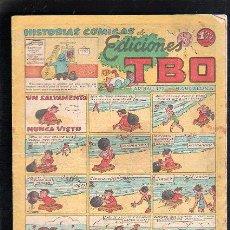 Tebeos: HISTORIAS COMICAS. EDICIONES TBO. UN SALVAMENTO NUNCA VISTO. BARCELONA. Lote 47830264